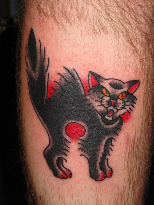 100 wonderful cat tattoos for Black cat tattoos