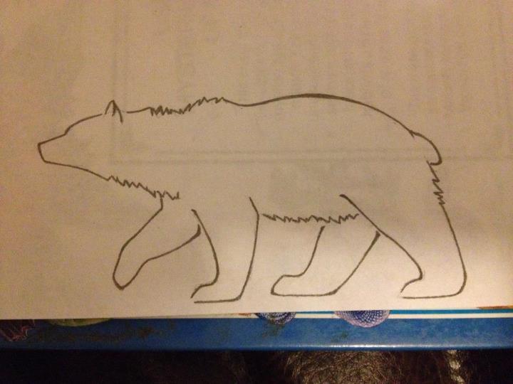 black outline bear tattoo stencil by kennie - Outline Of A Bear