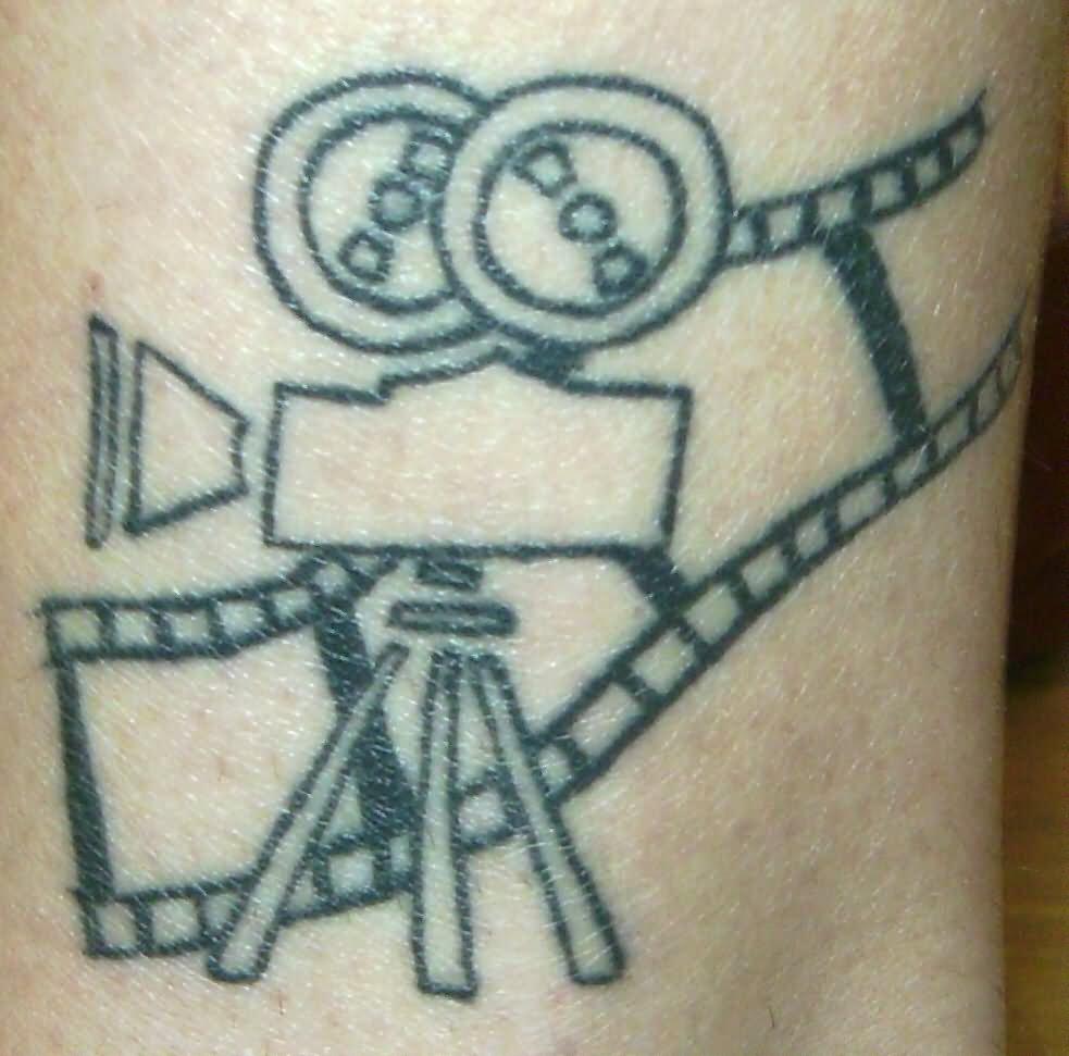 54 Unique Movie Camera Tattoos