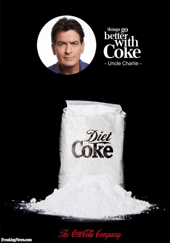 Charlie Sheen Funny Drug Picture