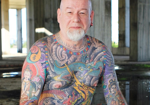 3a9eb768b6ef5 Colorful Asian Full Body Tattoos For Men