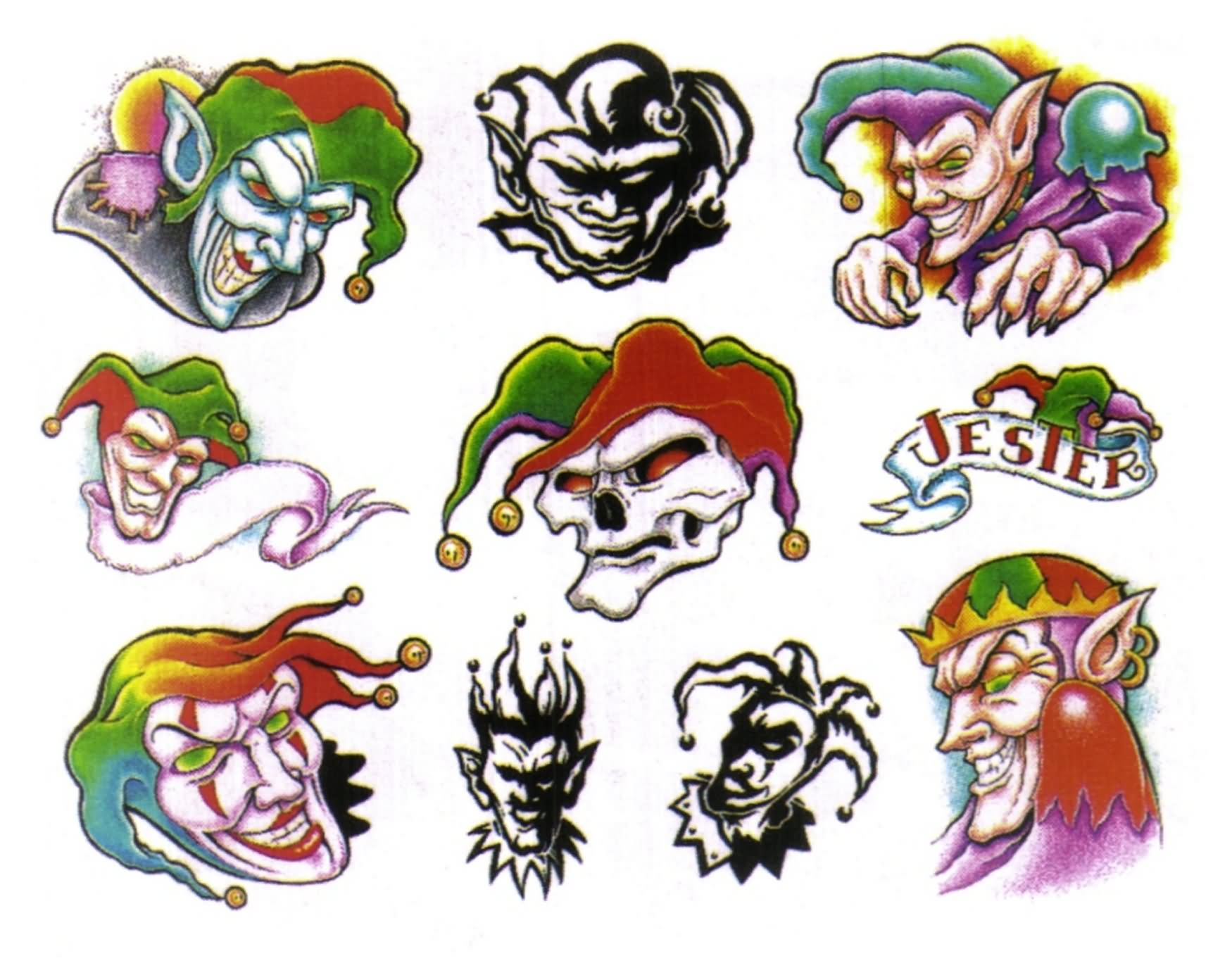 40+ Best Clown Tattoo Designs