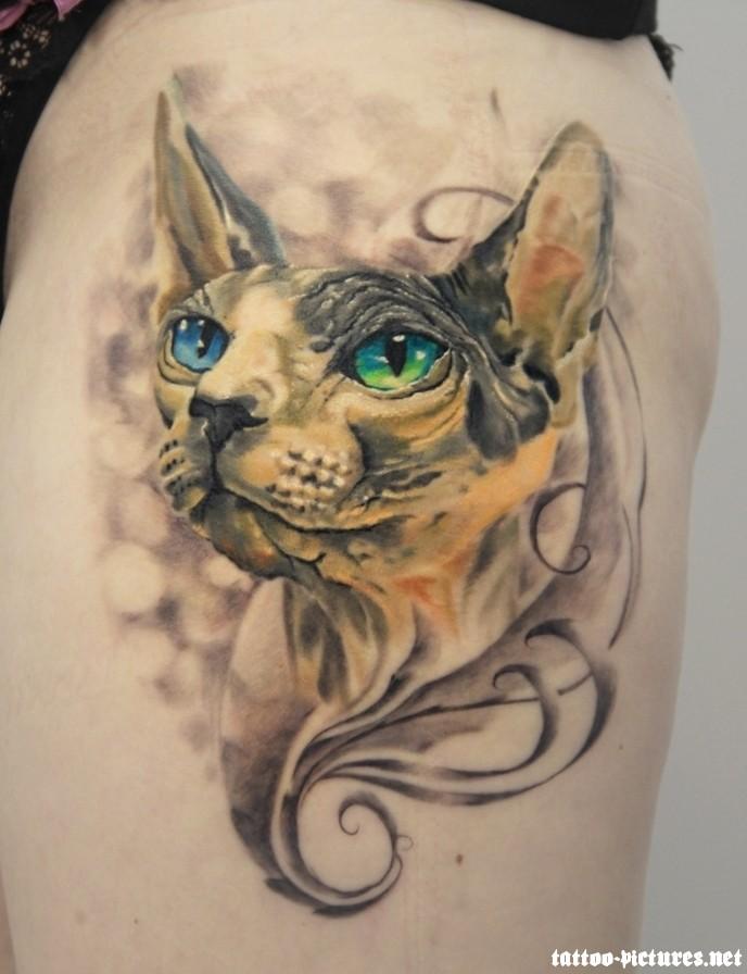 100 wonderful cat tattoos. Black Bedroom Furniture Sets. Home Design Ideas