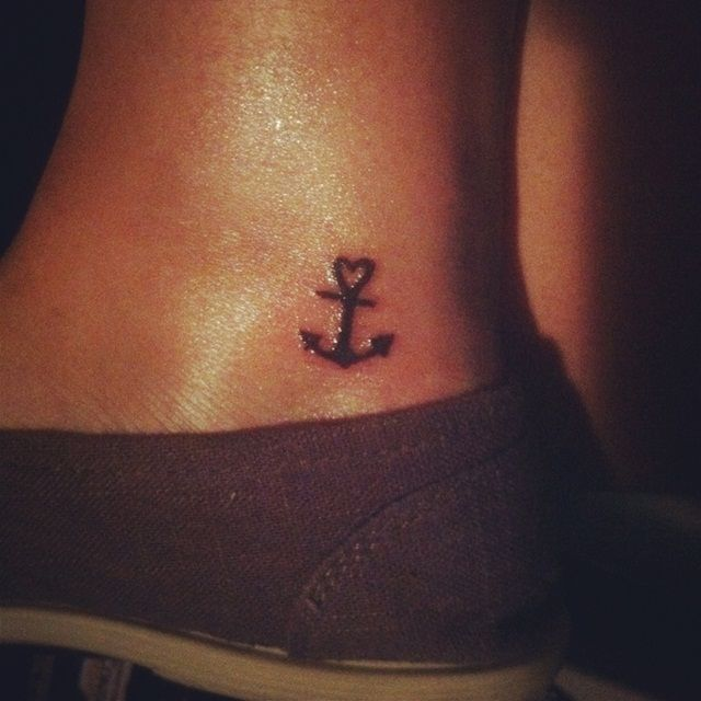 27 cute anchor tattoos. Black Bedroom Furniture Sets. Home Design Ideas
