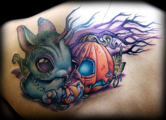 35 incredible halloween pumpkin tattoos. Black Bedroom Furniture Sets. Home Design Ideas