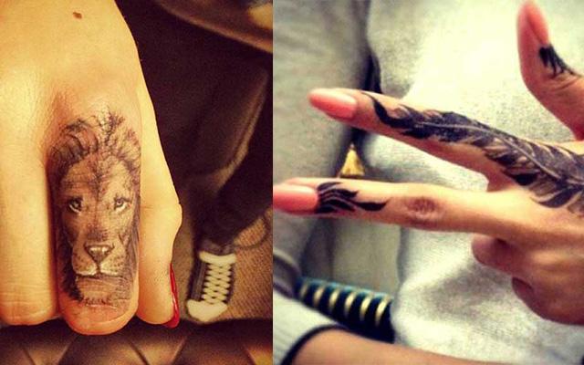 65 beautiful finger tattoos for Finger lion tattoo