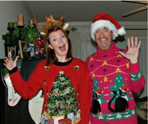 Funny Couple Wearing Christmas Costume  sc 1 st  Askideas.com & 50 Very Funny Couple Photos And Pictures