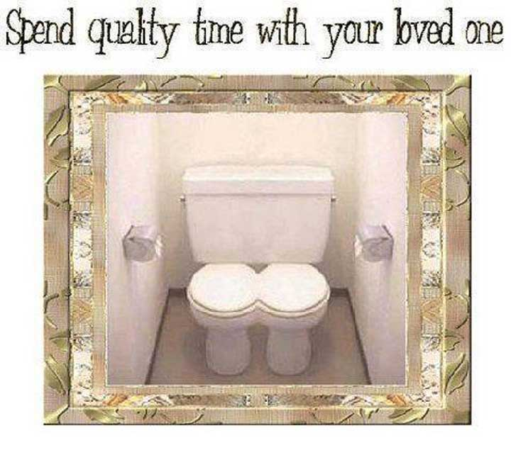 Funny Double Toilets Image