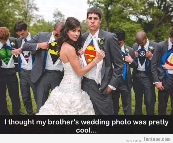 I Thought My Brothers Wedding Photo Was Pretty Cool Funny Couple
