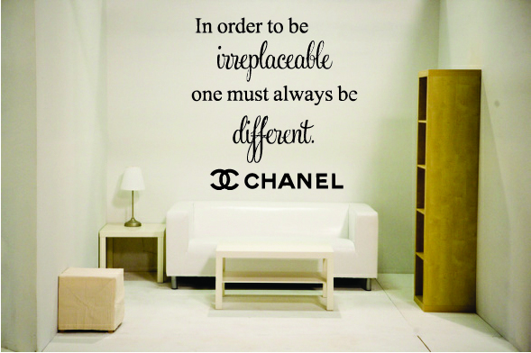 In order to be irreplaceable one must always be different. (5)