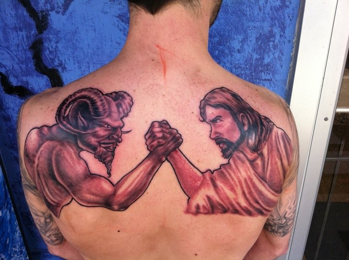60 amazing wrestling tattoos for Jesus tattoos on arm