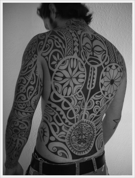35 full body tribal tattoos. Black Bedroom Furniture Sets. Home Design Ideas