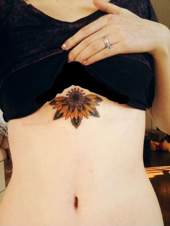 55 Beautiful Under Breast Tattoos