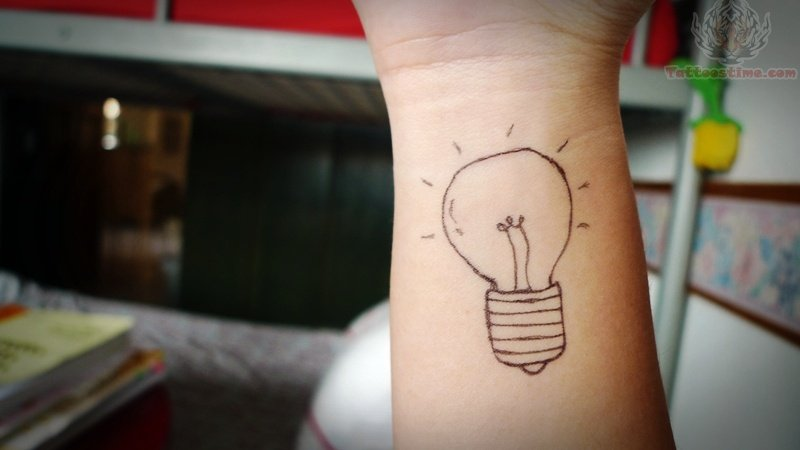 Outline Light Bulb Tattoo On Wrist & 85+ Incredible Bulb Tattoos azcodes.com