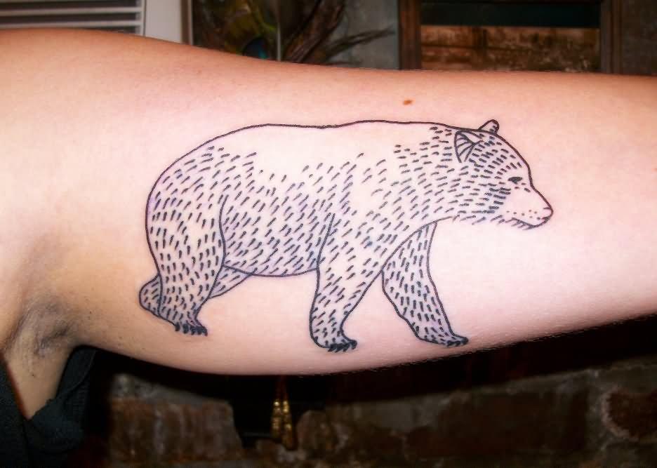 7235395e71f0e Simple Bear Tattoo On Bicep