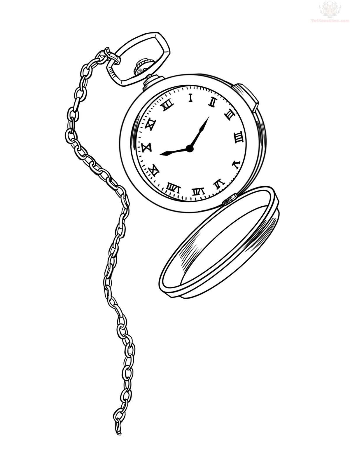 14  beautiful watch tattoo designs