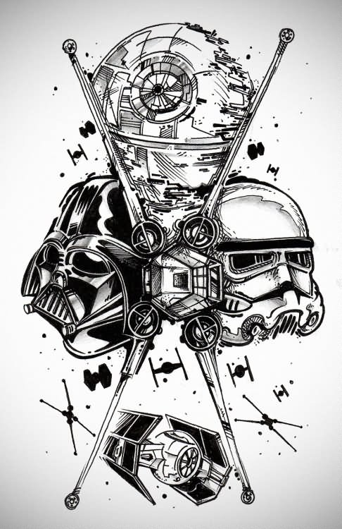Gallery For gt Darth Vader Tattoo Outline