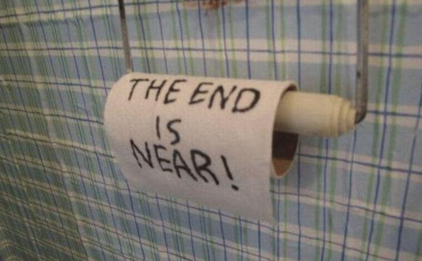The End Is Near Funny Toilet Paper Picture