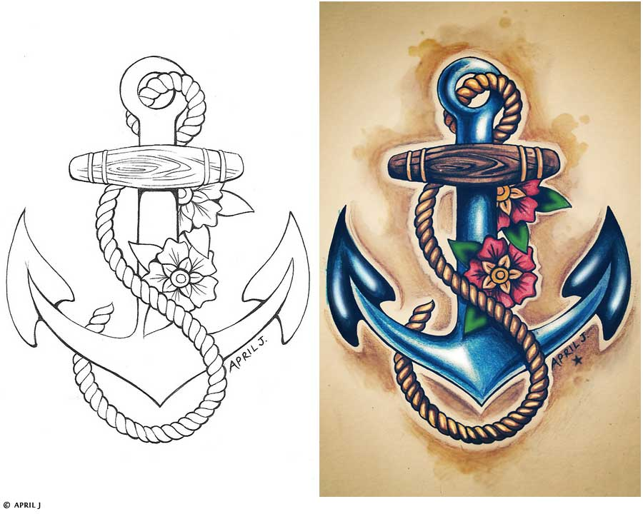 56 Traditional Anchor Tattoos