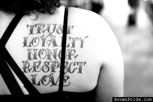 loyalty and honesty tattoos