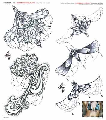 10 Latest Under Breast Tattoo Designs
