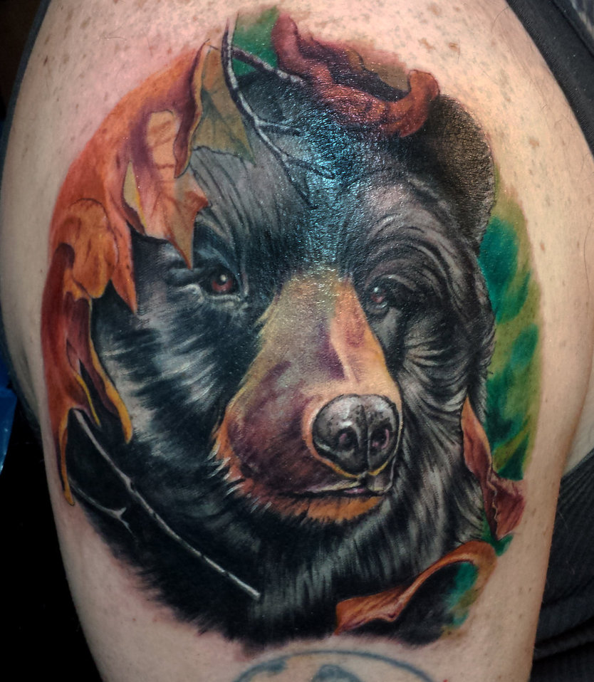 45 awesome bear tattoos. Black Bedroom Furniture Sets. Home Design Ideas