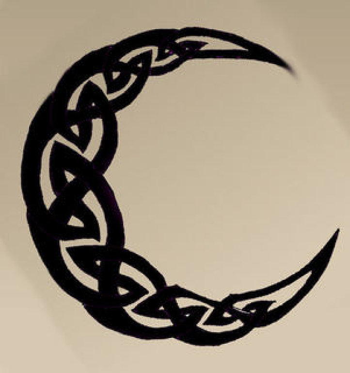 Celtic Moon Stencil Printable : Moon tattoo designs