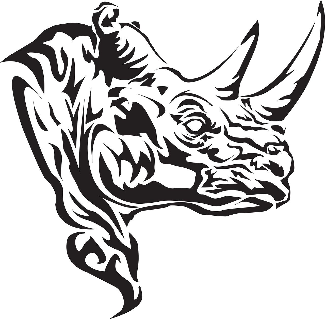 25 wonderful rhino tattoos designs