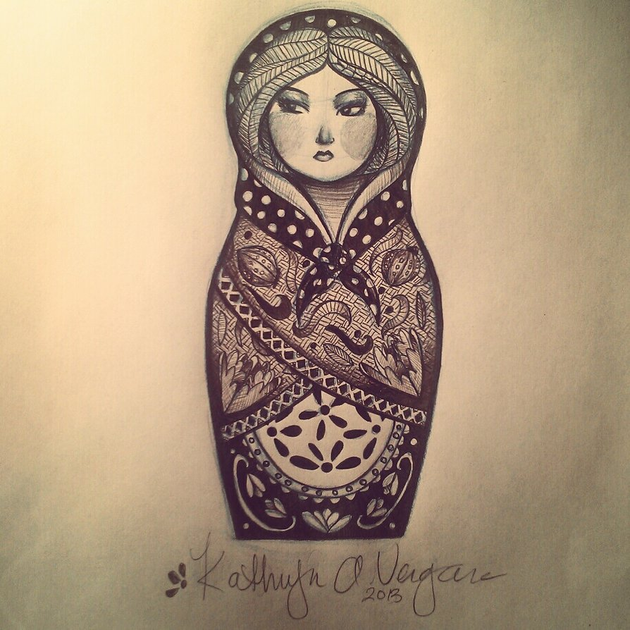 Beautiful Matryoshka Tattoo Design Idea
