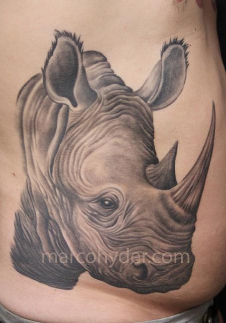 30 outstanding rhino tattoos rh askideas com rhinoceros beetle tattoo meaning rhinoceros tattoo meaning