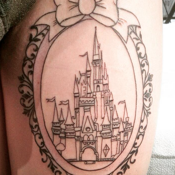 35 awesome castle tattoos. Black Bedroom Furniture Sets. Home Design Ideas