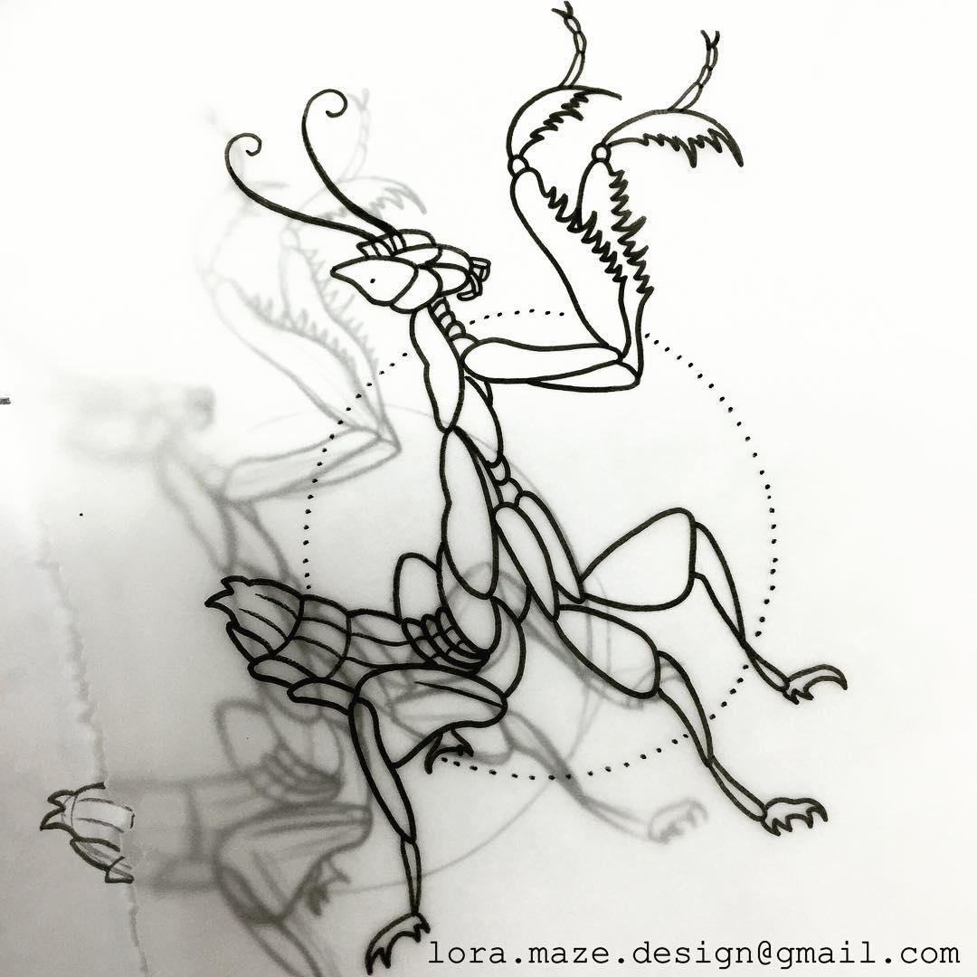 20 Awesome Mantis Tattoo Designs