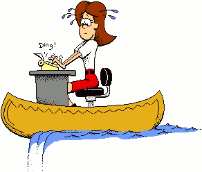 Canoeing Office Lady Funny Clip Art