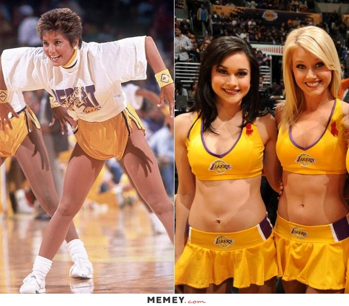 Cheerleaders Then And Now Funny Meme