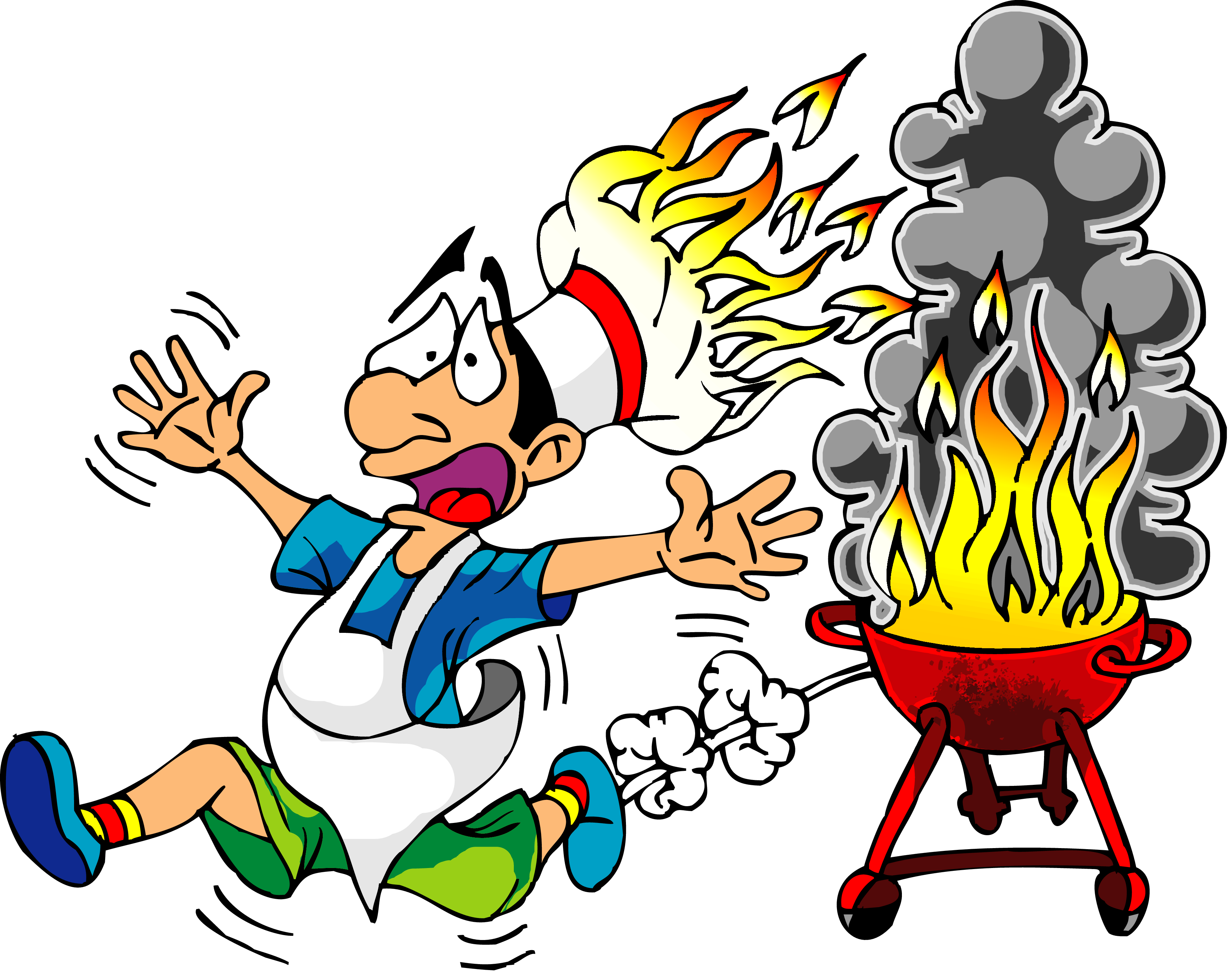 Cook With Fire Hat Funny Clip Art