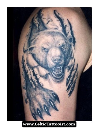 45 awesome bear tattoos for Black claw tattoo