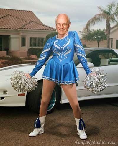 Dick Cheney Funny Cheerleading Image
