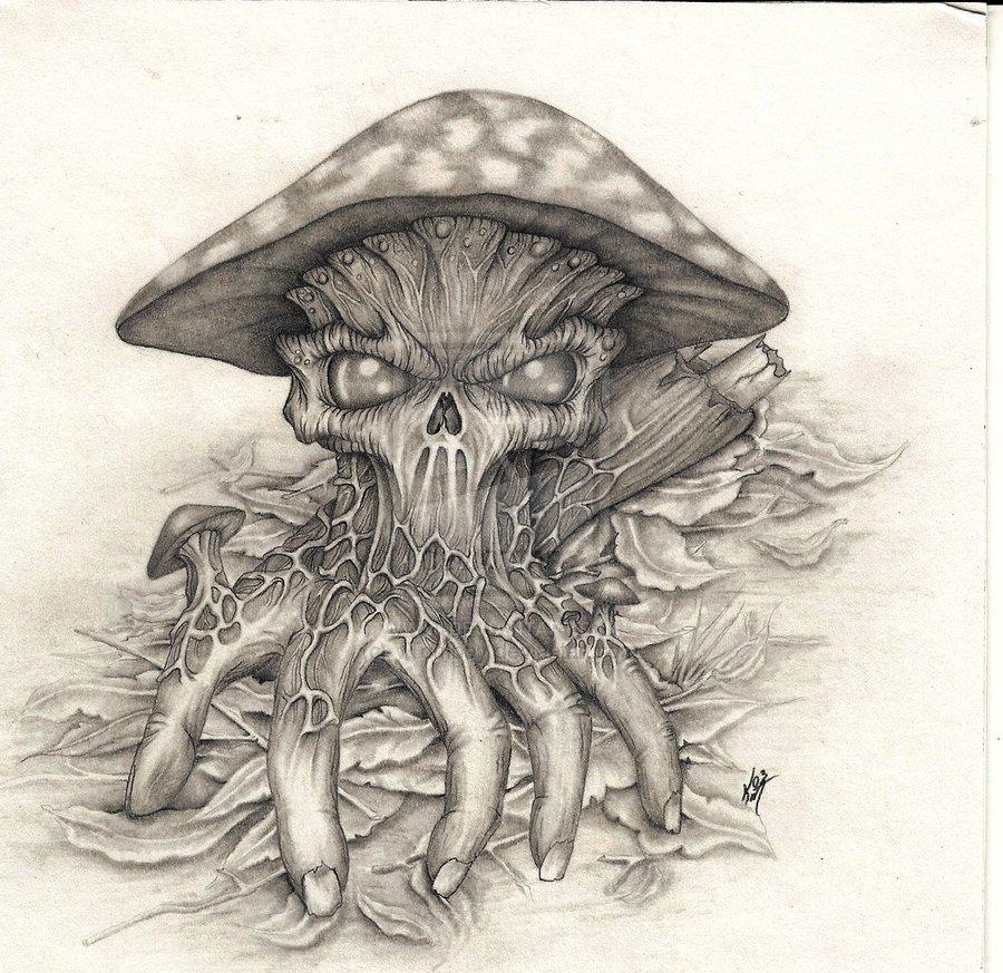 Evil Mushrooms 40 Mushroom Tattoos