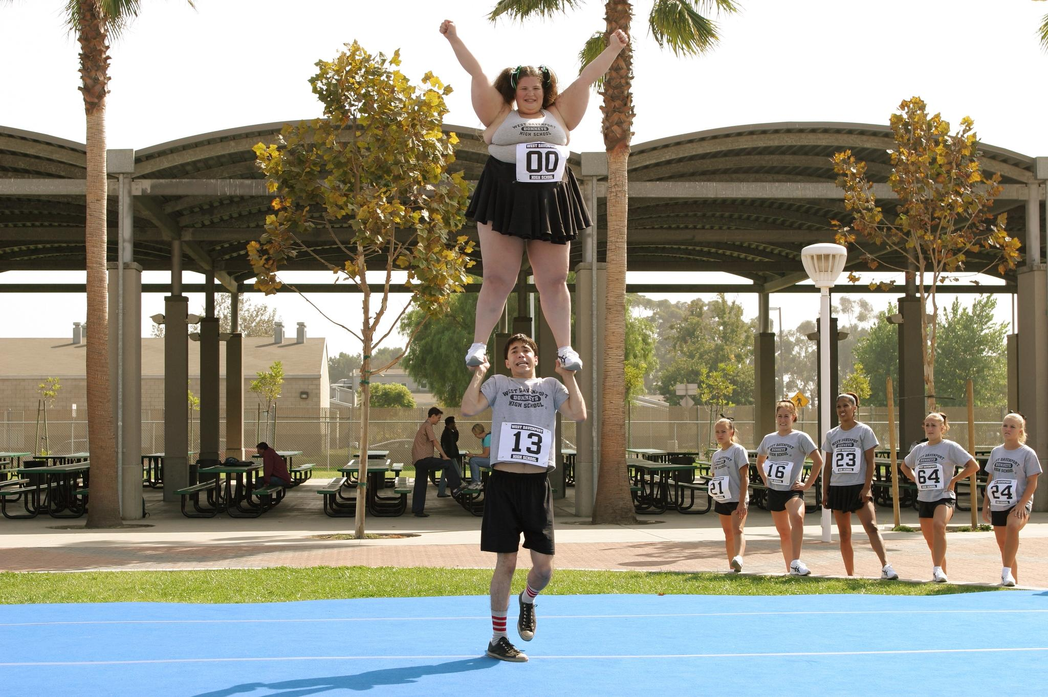 Fat Girl Funny Cheerleading Picture
