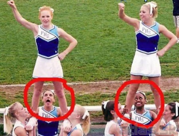 Funny Cheerleader Girls Fail Picture