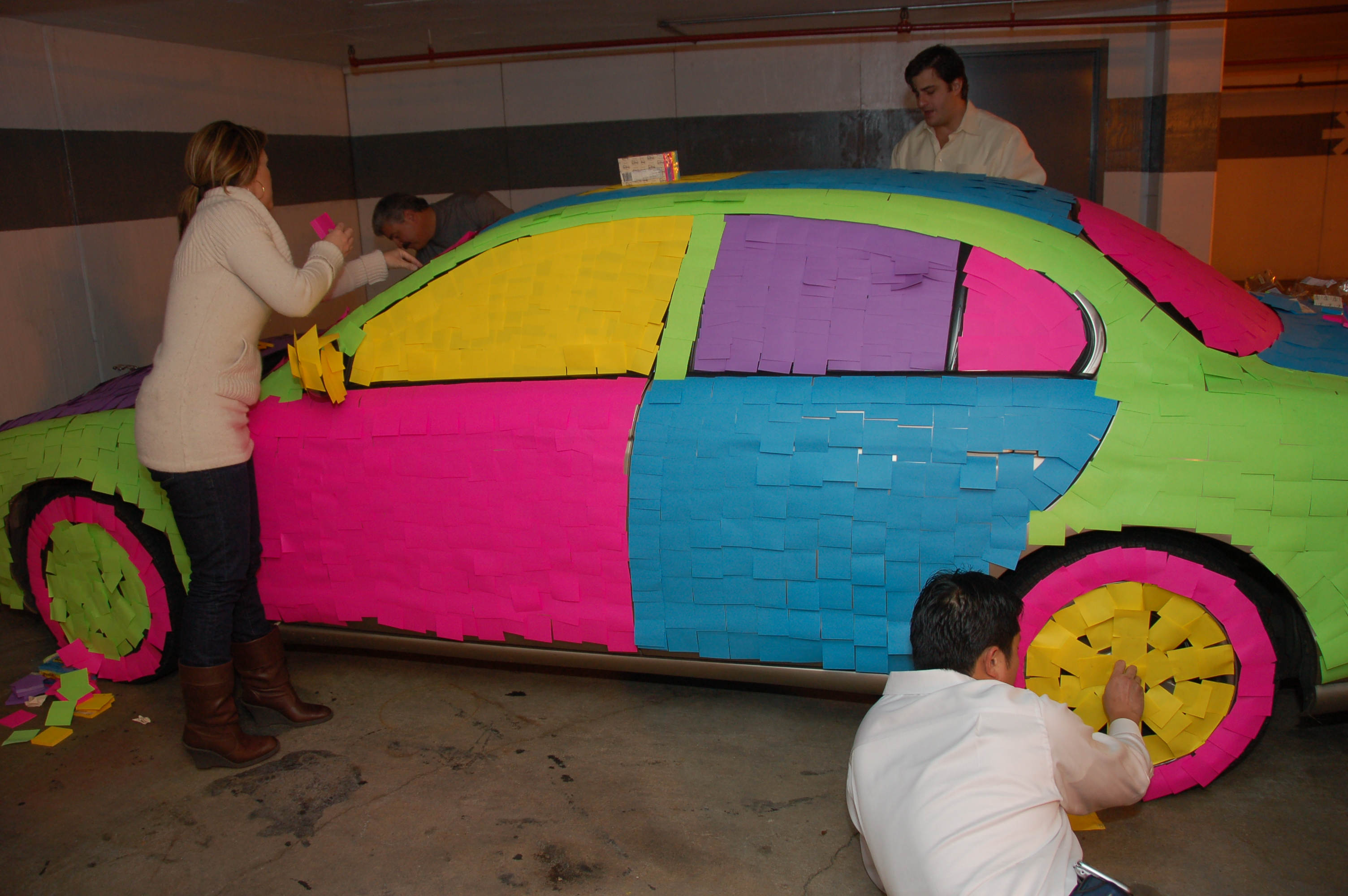 Funny Colorful Car Prank Picture