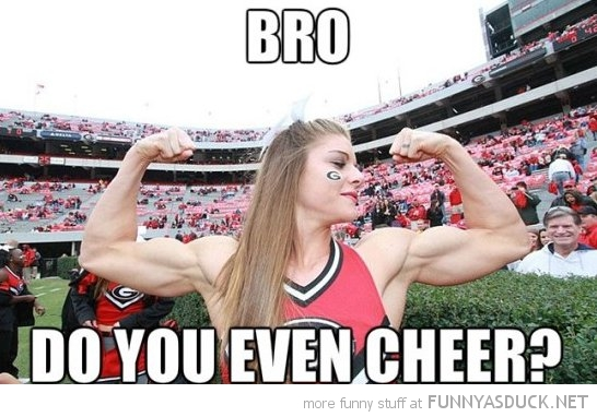 Funny Muscular Cheerleader Girl Picture