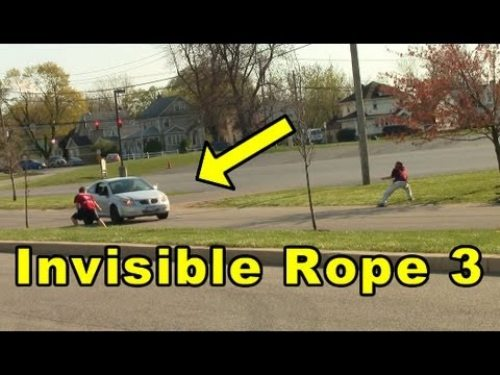 Funny Prank Invisible Rope Image