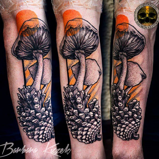 50 beautiful mushroom tattoos for 13th floor tattoo shop
