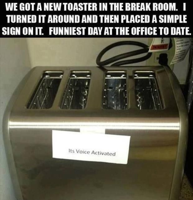 Its Voice Activated Funny Prank Toaster Image