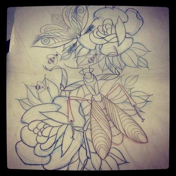 60 Fantastic Mantis Tattoos