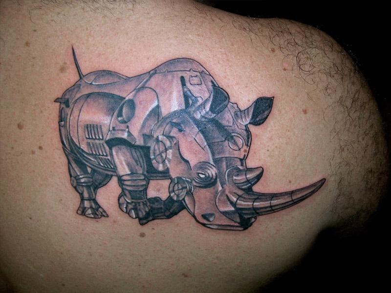 30 outstanding rhino tattoos