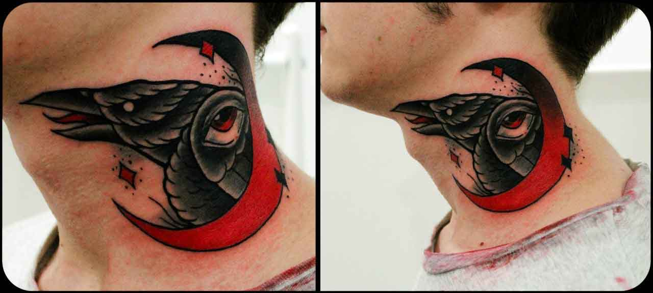 red moon tattoo - photo #17