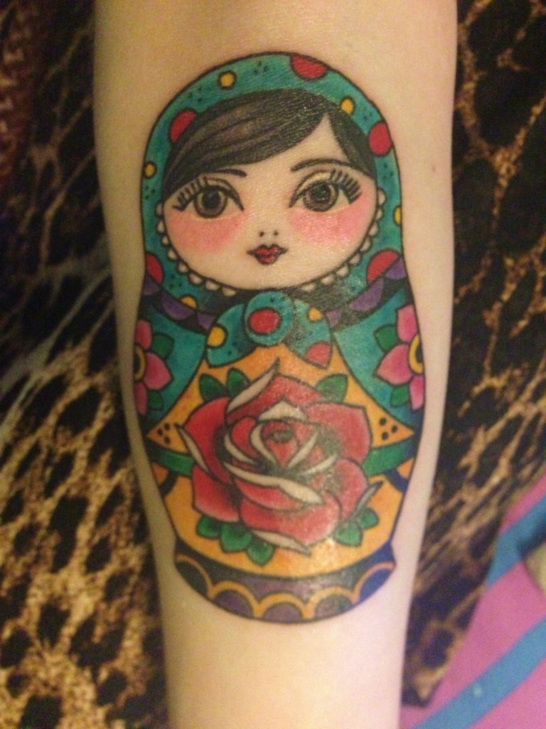 80 cool matryoshka tattoos for Russian style tattoo