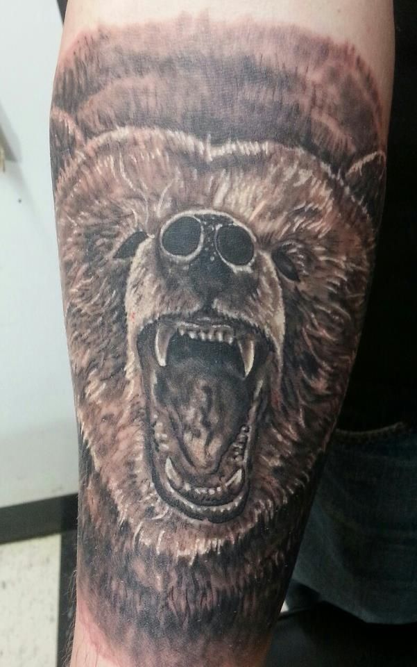 297d95c52 Roaring Bear Head Tattoo Design For Forearm